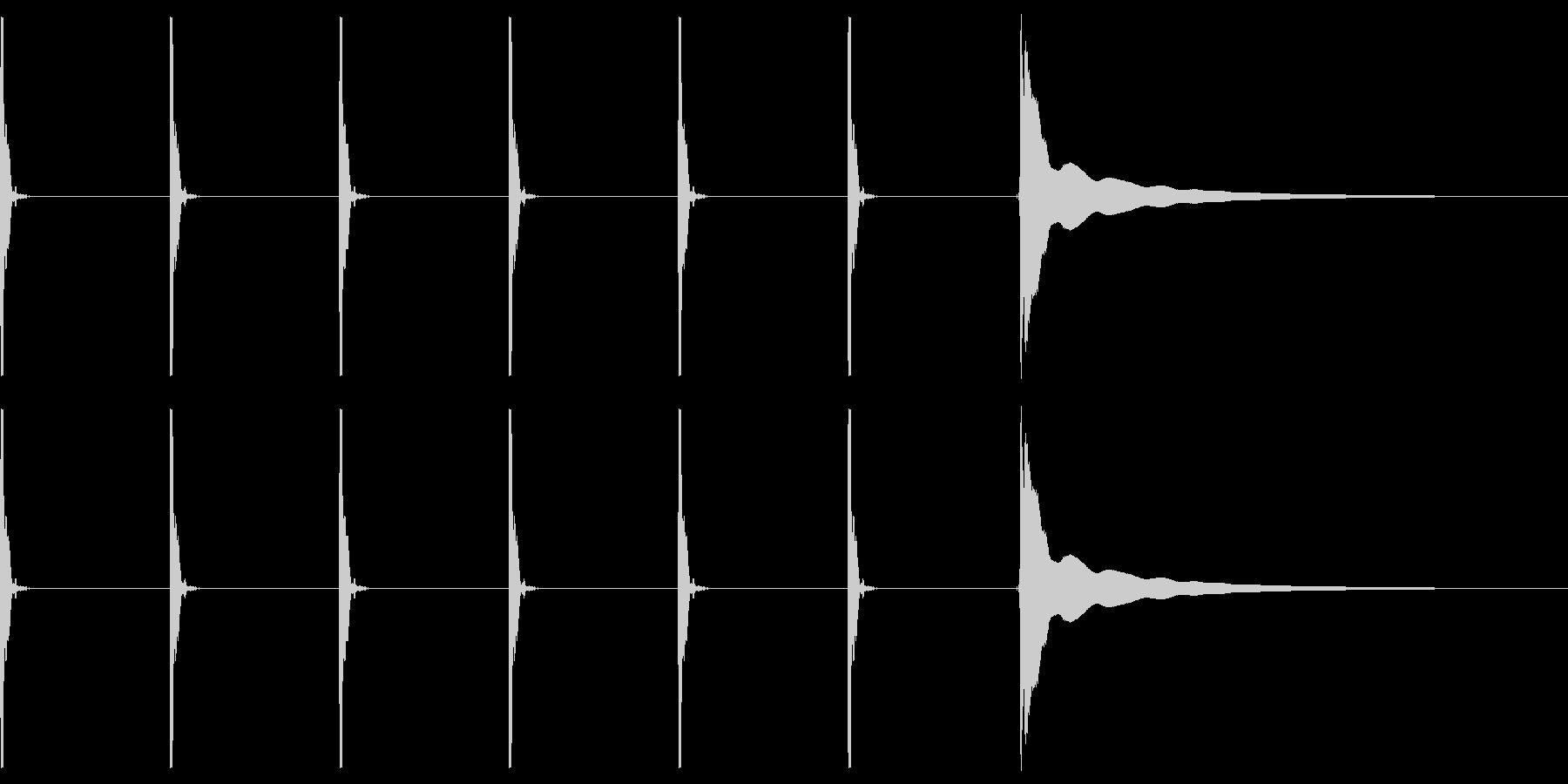 【生録音】ポクポクポク・チーン(遅め)の未再生の波形