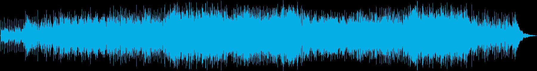 ロックバラードの再生済みの波形