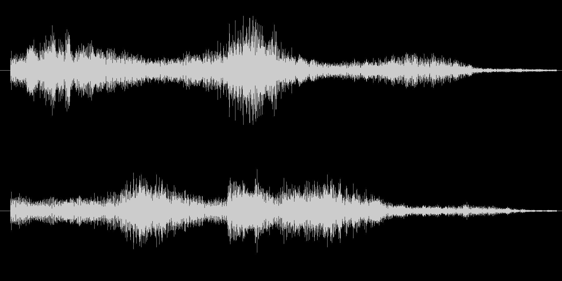 3秒のシンプルなサウンドロゴの未再生の波形