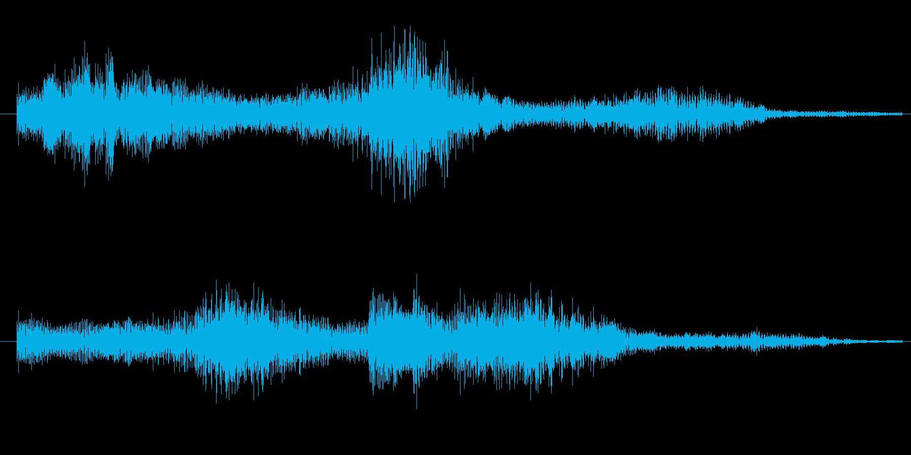 3秒のシンプルなサウンドロゴの再生済みの波形