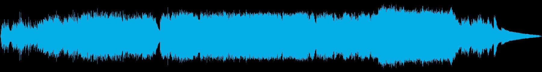 生コーラスが壮大さを増すピアノインストの再生済みの波形