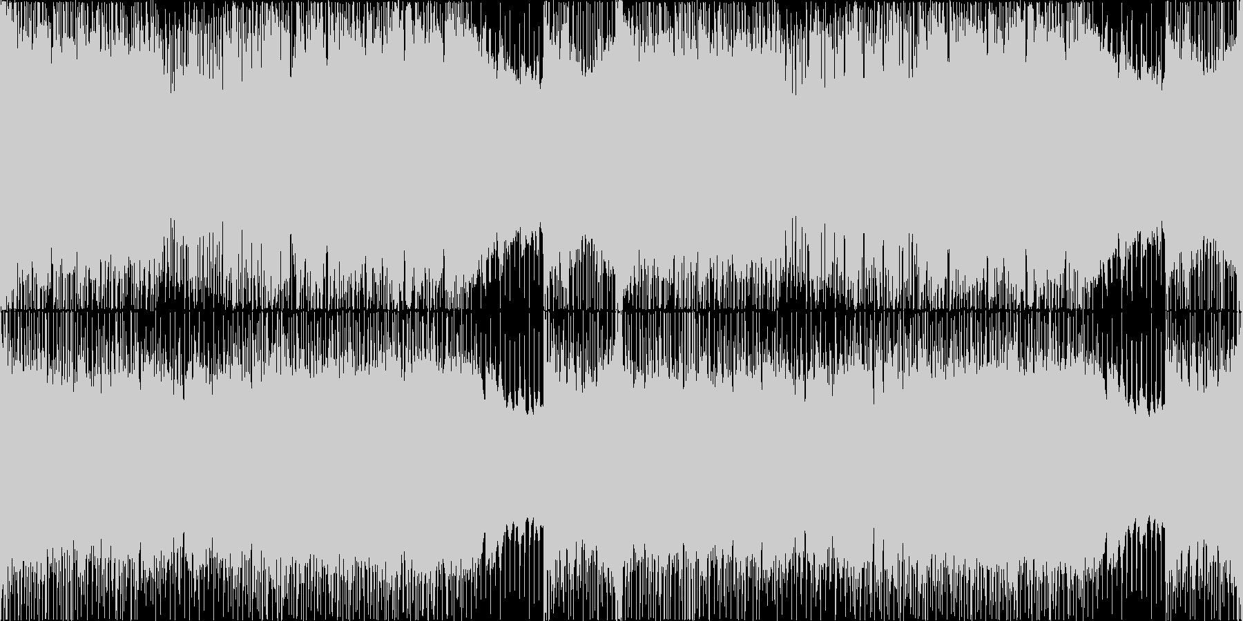 重厚で激しいメタルギターリフ【ループ】の未再生の波形