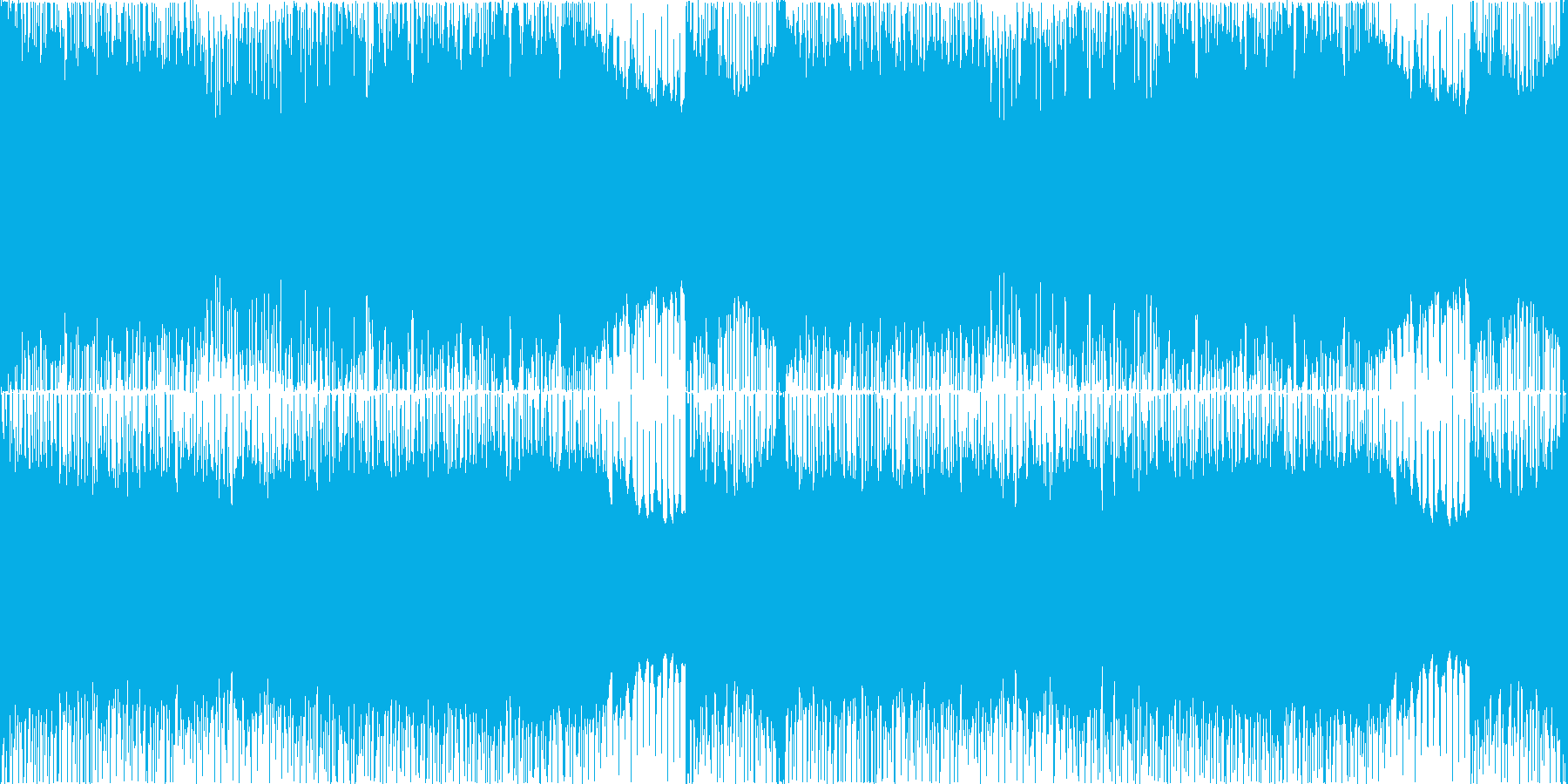 重厚で激しいメタルギターリフ【ループ】の再生済みの波形