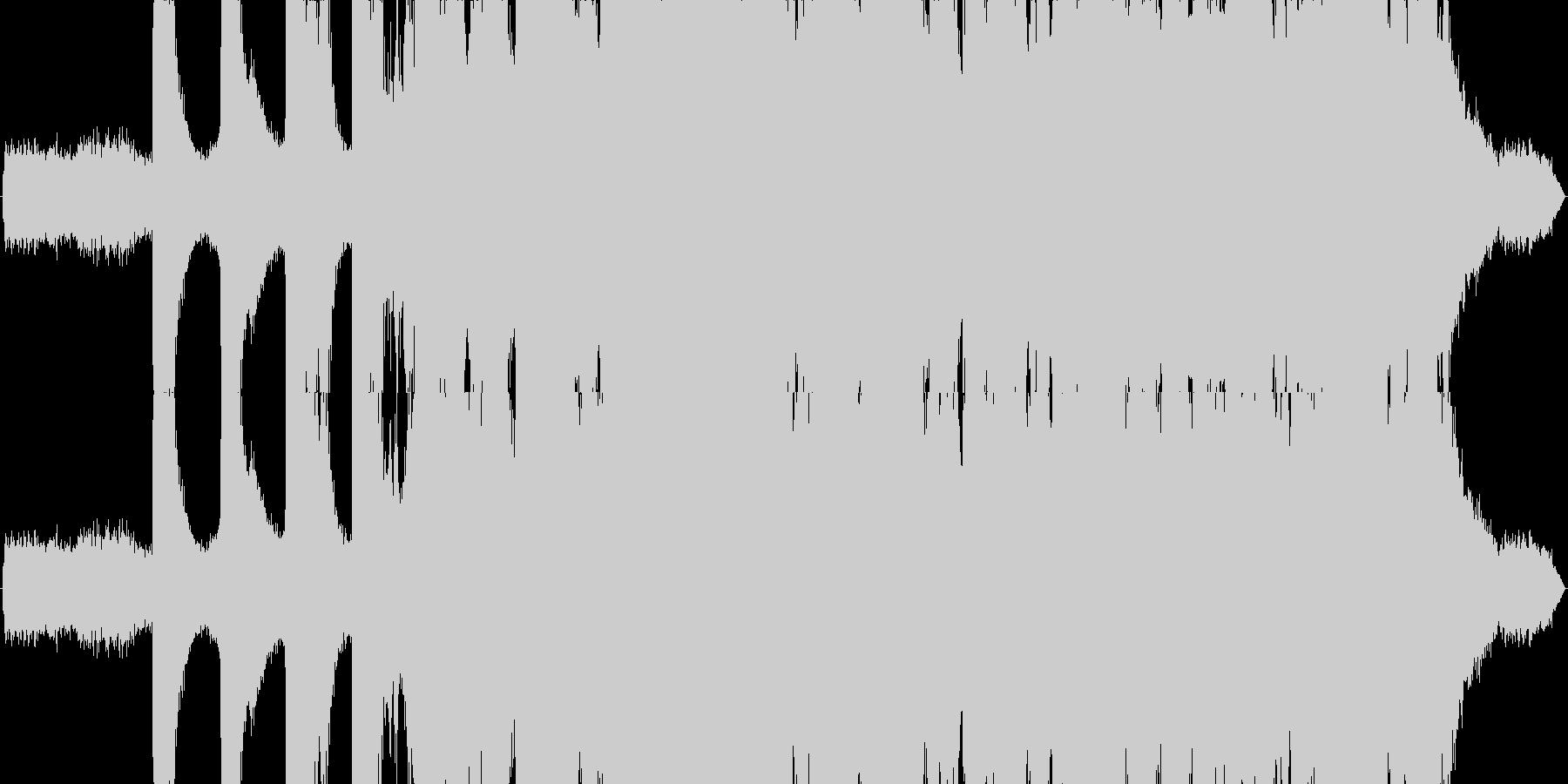 夏の小川をイメージしたBGMの未再生の波形
