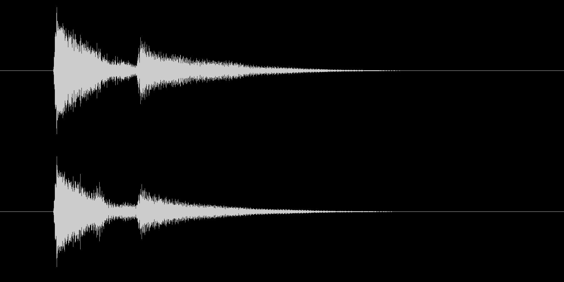 ジャッ、ポローン(ギターを弾く音)の未再生の波形