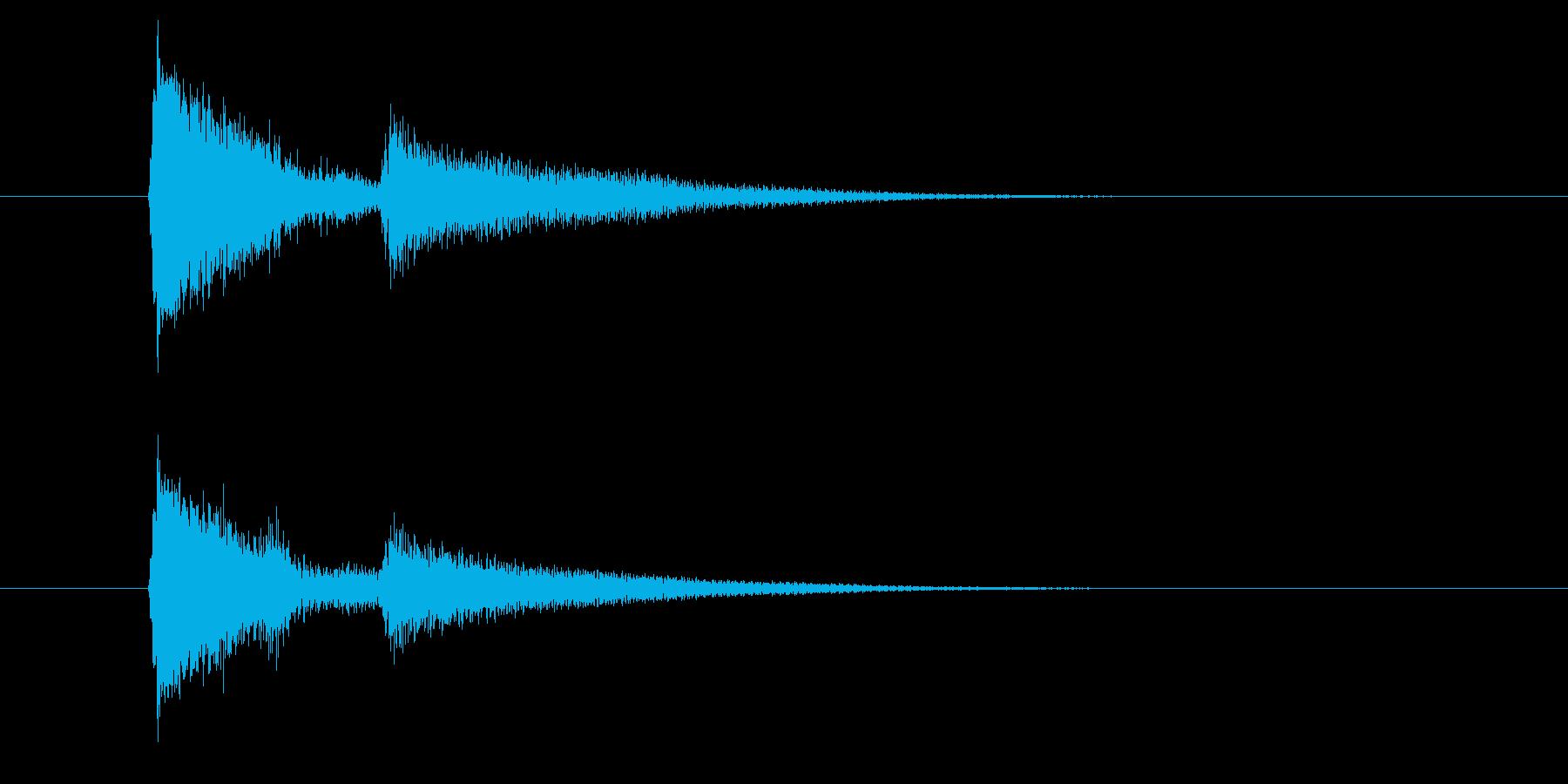 ジャッ、ポローン(ギターを弾く音)の再生済みの波形