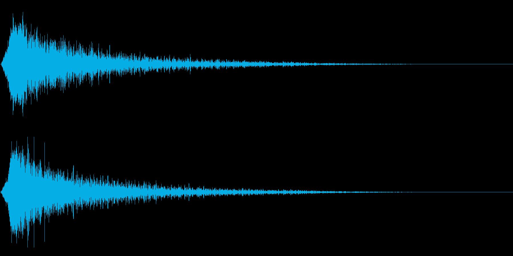 シャキーン!強烈なインパクト、ロゴ等2bの再生済みの波形