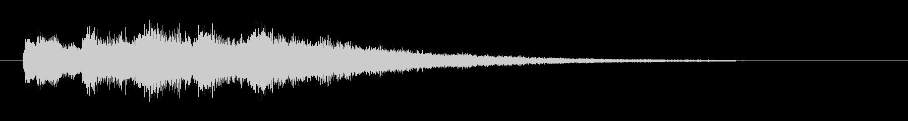 チャイム的な音の未再生の波形
