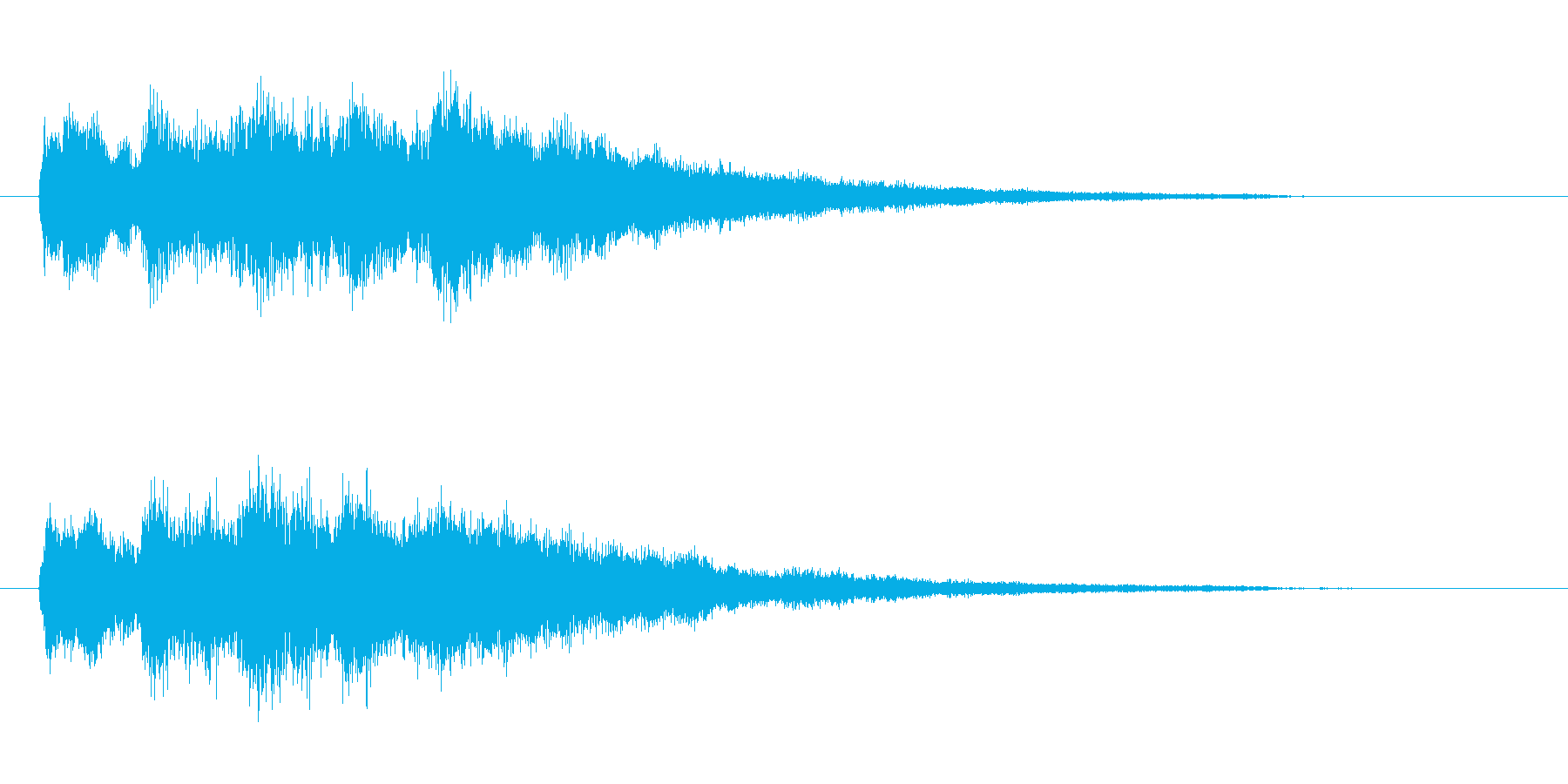チャイム的な音の再生済みの波形