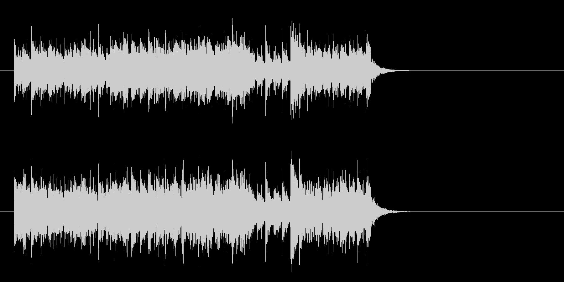 軽快なガールズポップス(サビ)の未再生の波形