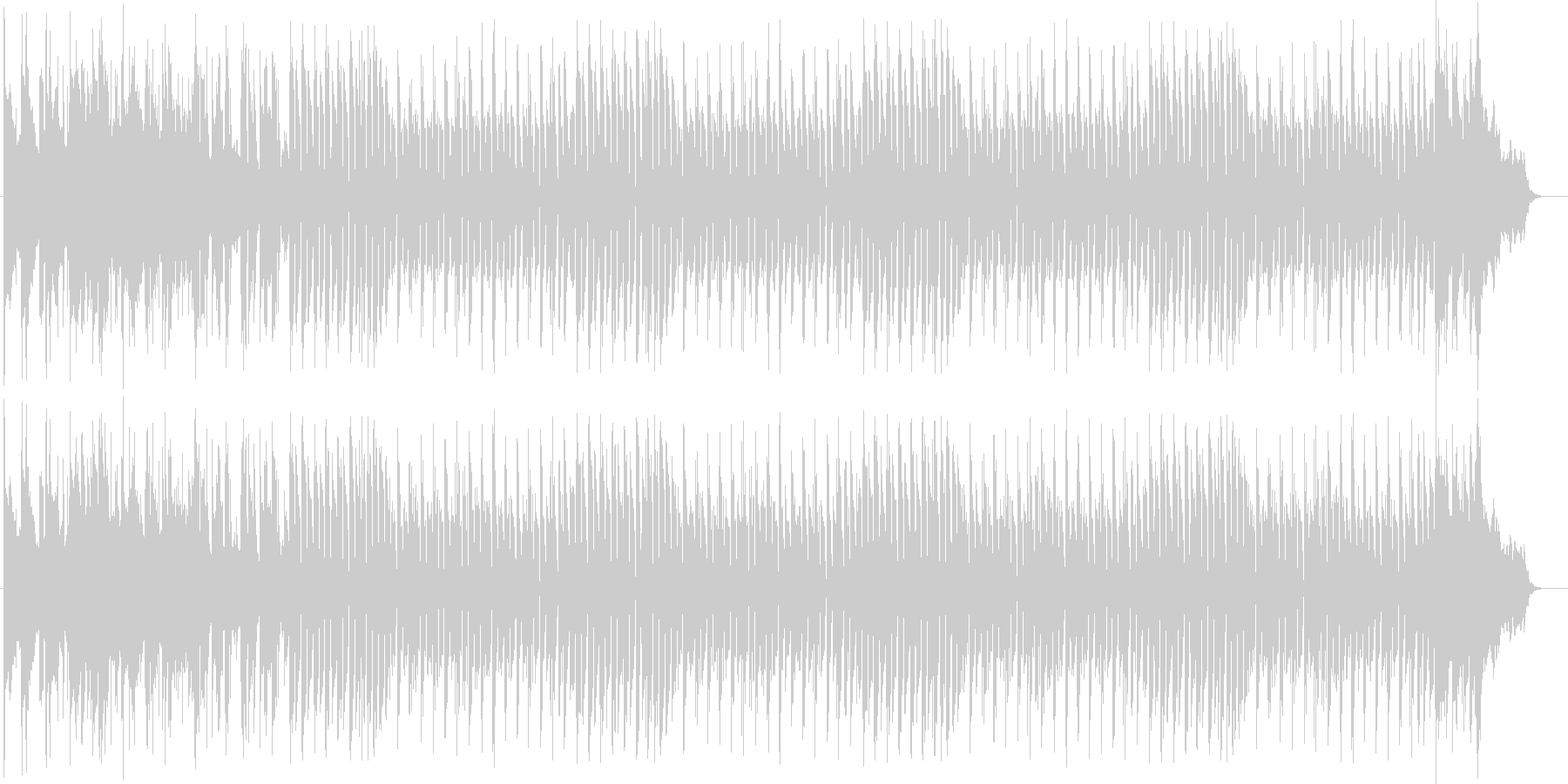 瑞々しさを感じるシンセポップスの未再生の波形