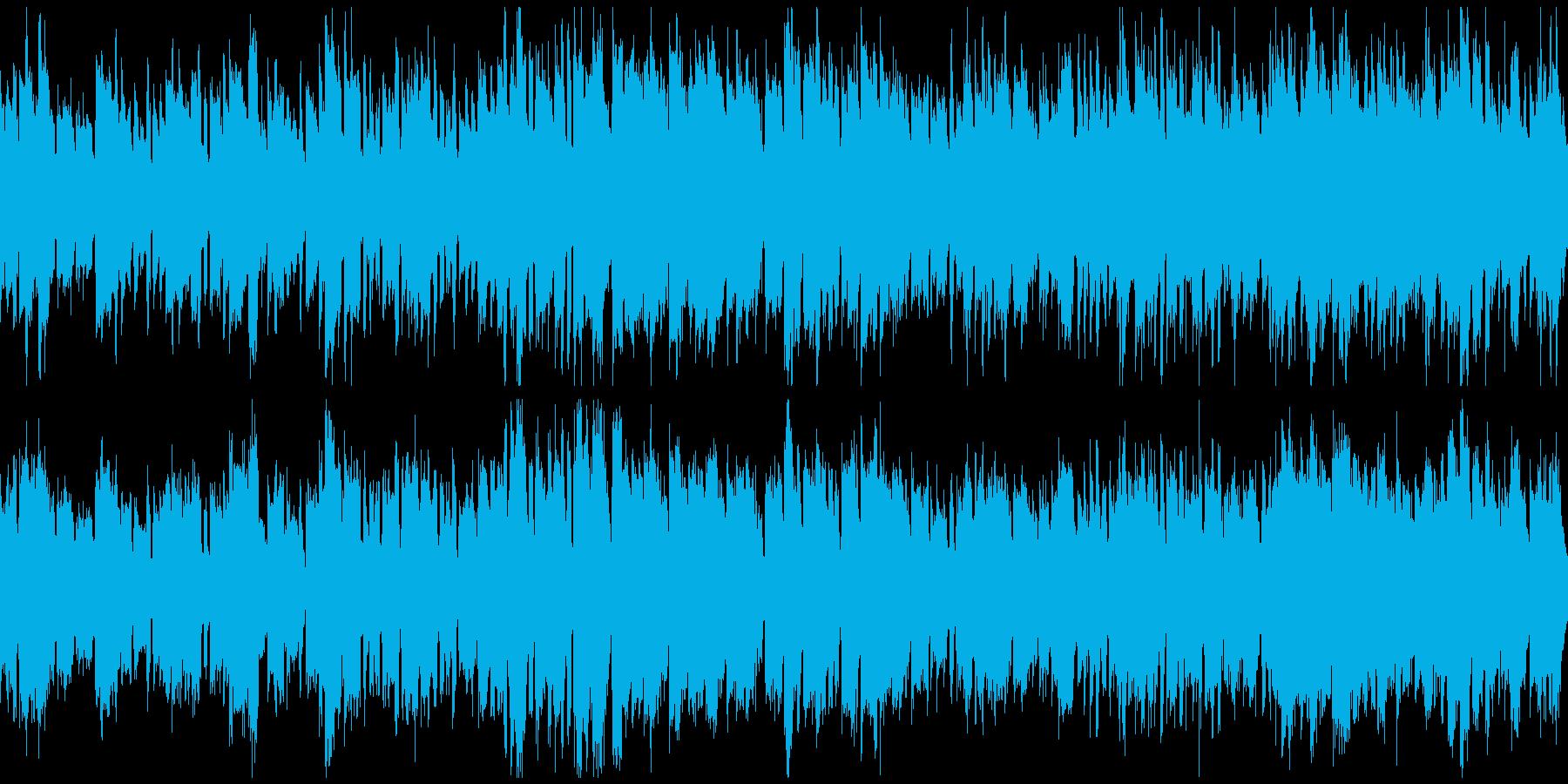 ほのぼのRPGの村+バイオリン(ループ)の再生済みの波形