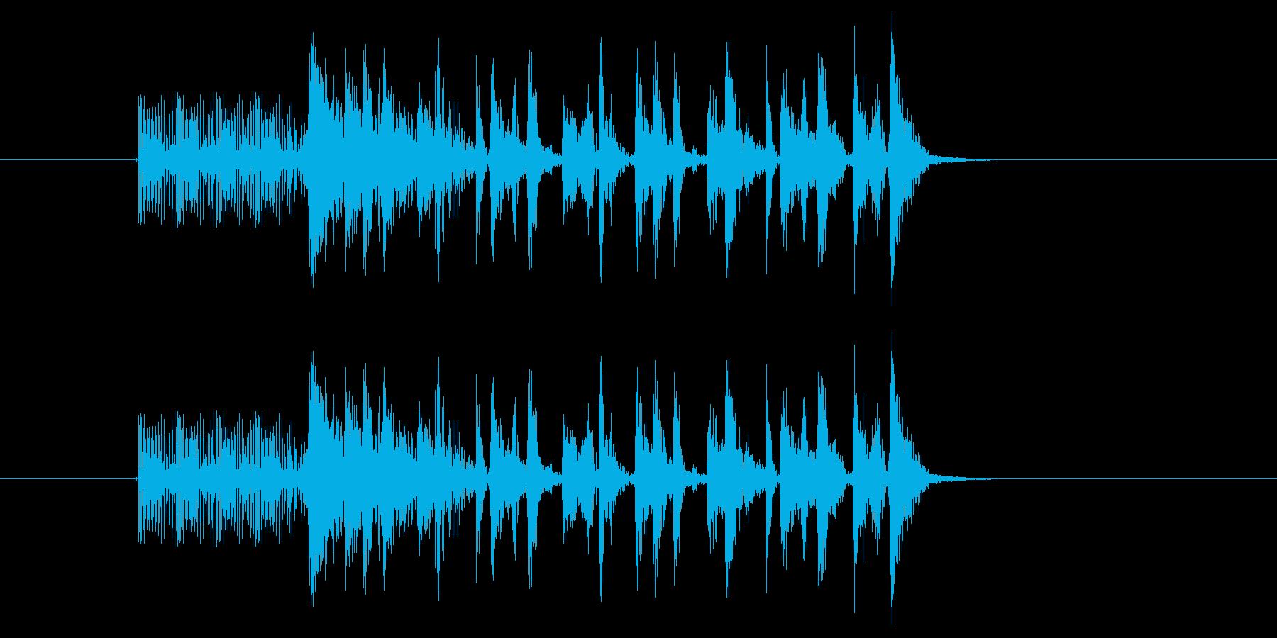 キッチュなアップテンポのゲーム音の再生済みの波形