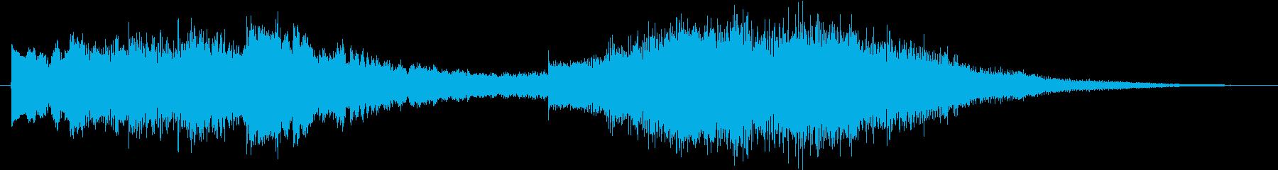 多用途な動画イン・アウトロ用ジングル1の再生済みの波形