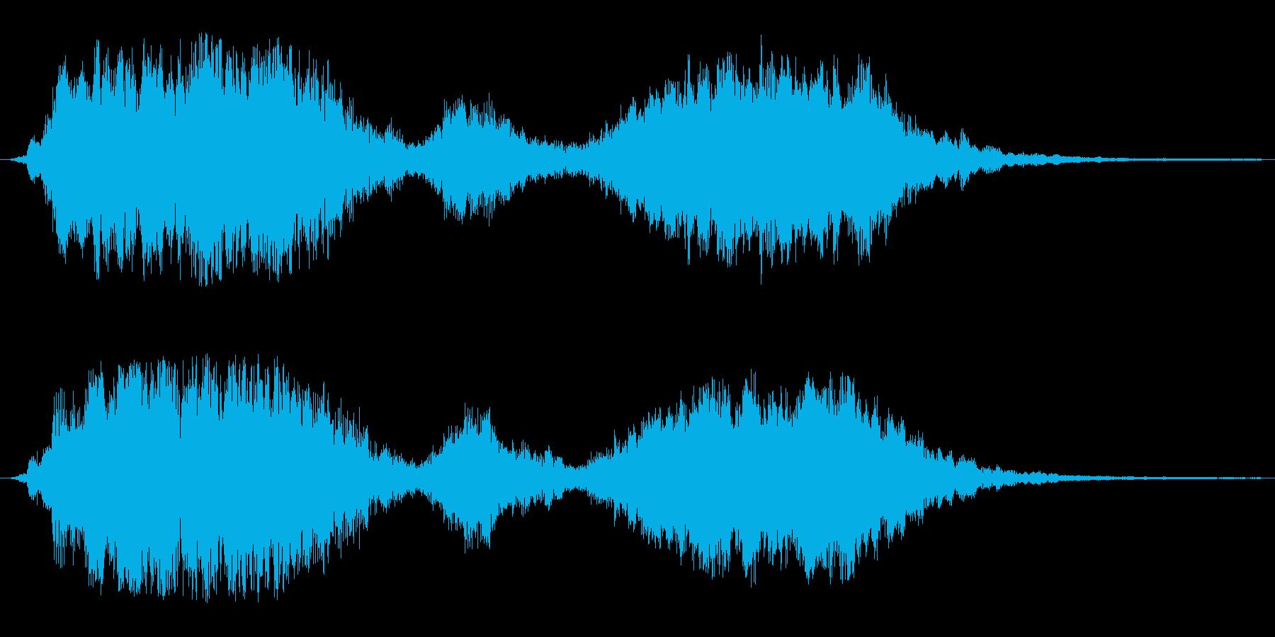 しっとり始まる軽快なオープニング音の再生済みの波形