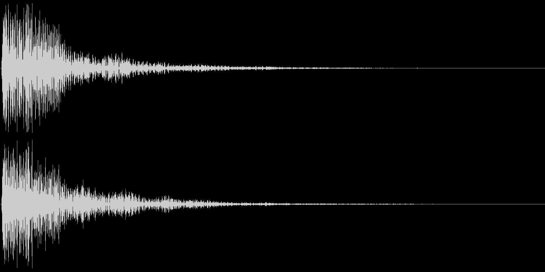 木琴(決定音、ゲーム、アプリに)の未再生の波形