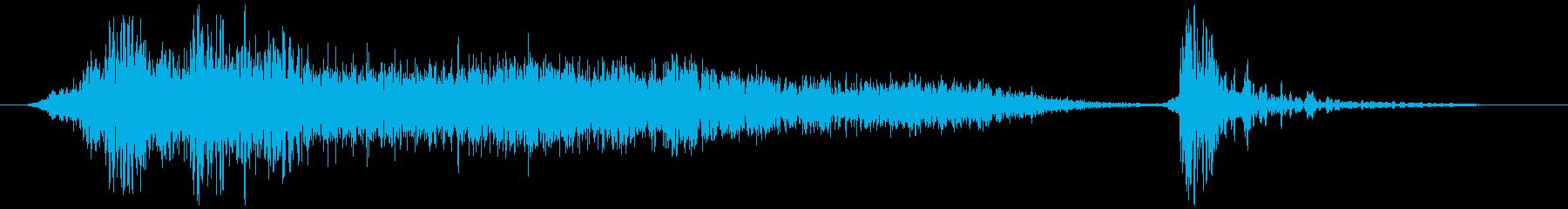 障子を閉める ザァーッ コッの再生済みの波形
