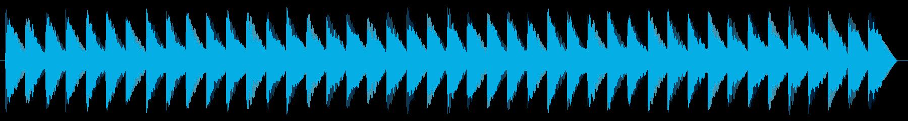 踏切 警報音01-1の再生済みの波形