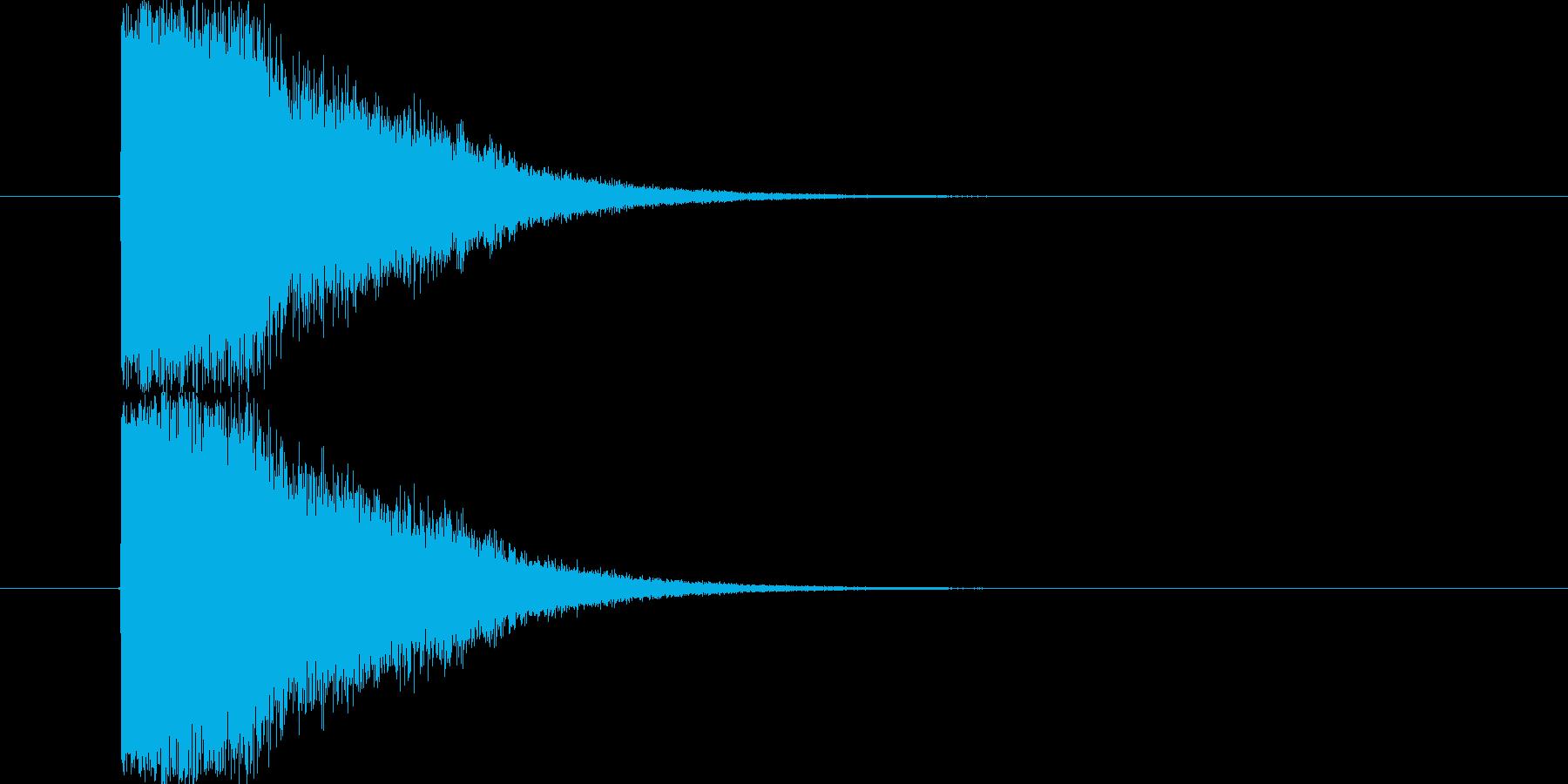 いわゆる「キメ」なSEです。よい登場人…の再生済みの波形