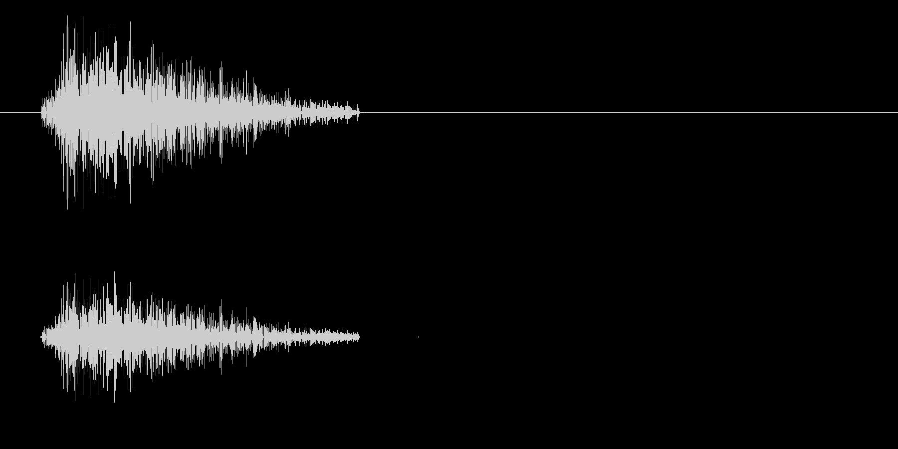 ドラムセット スネアの音の未再生の波形