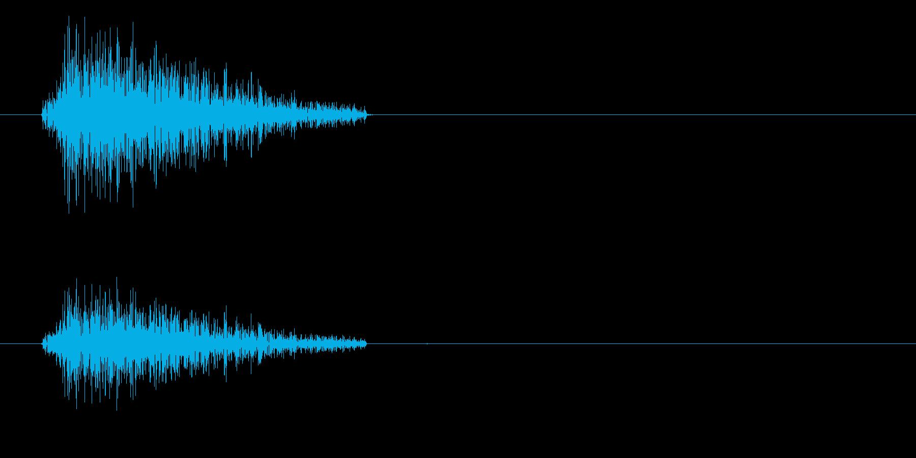 ドラムセット スネアの音の再生済みの波形