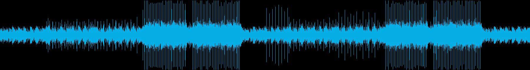 ピアノでしっとり、独特な雰囲気の楽曲の再生済みの波形