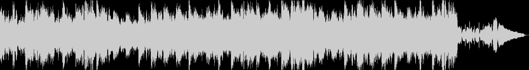 切ない響きの弦楽四重奏とピアノの未再生の波形
