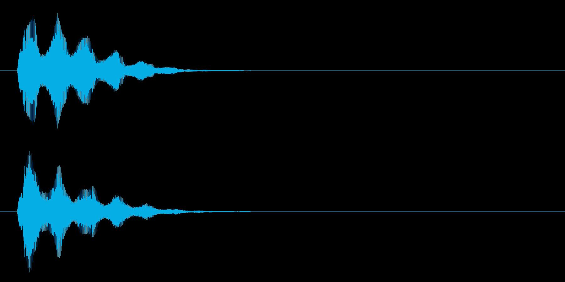 アプリ・ゲームの決定音_010の再生済みの波形
