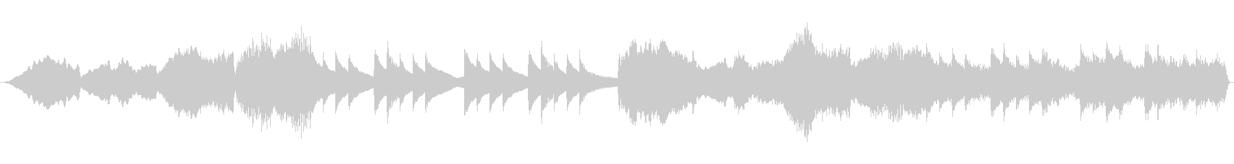 ミステリーホラー系ループ音源の未再生の波形