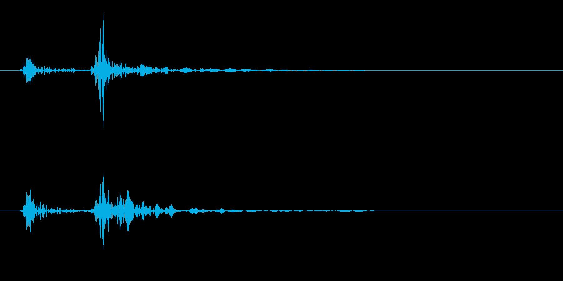 木製のドアを閉める音(エフェクト無し)の再生済みの波形