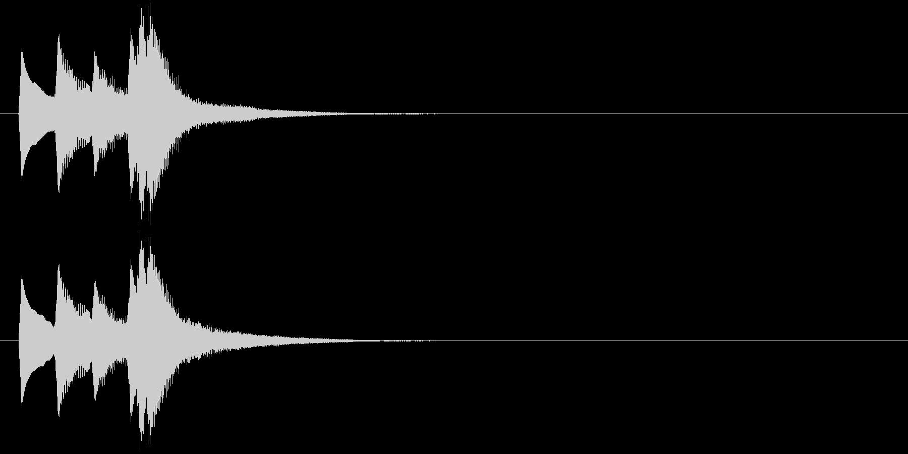 ピロリッ↑(シンプル、決定音、かわいい)の未再生の波形