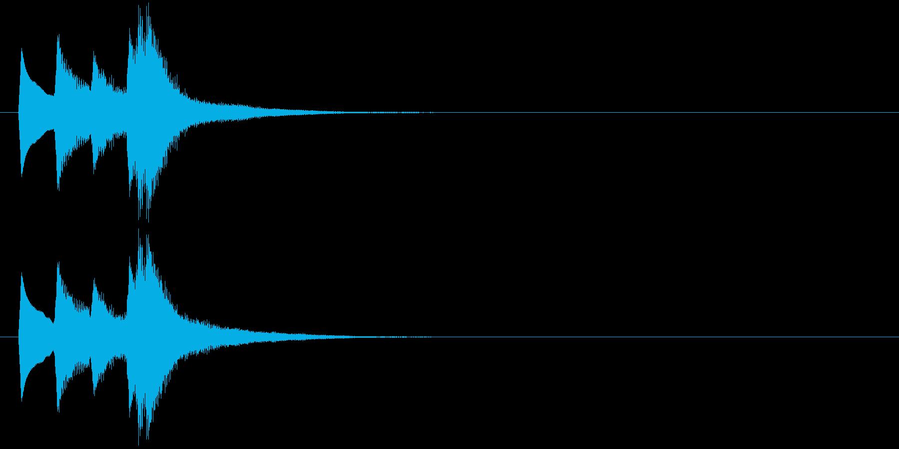 ピロリッ↑(シンプル、決定音、かわいい)の再生済みの波形