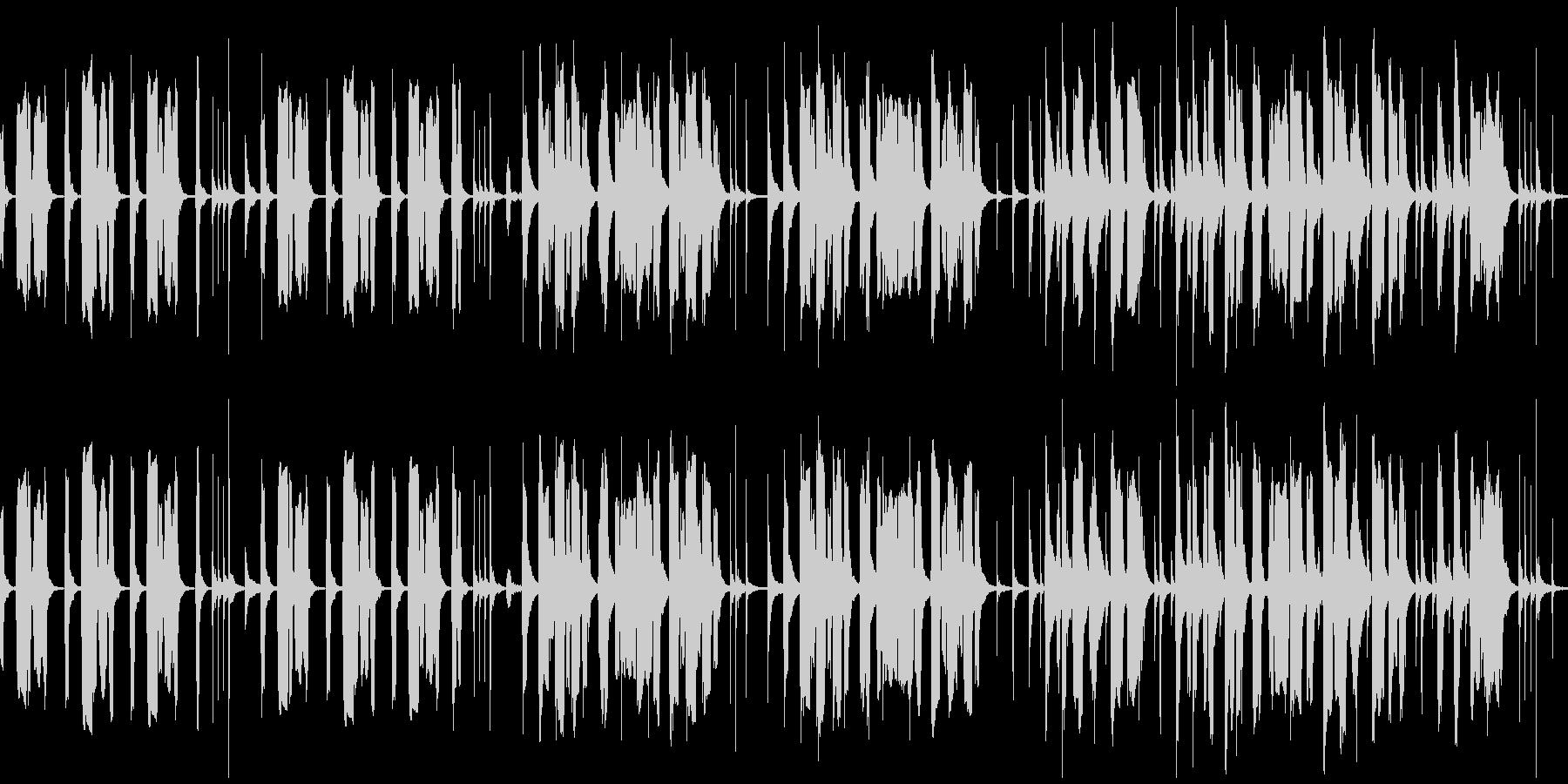 チューバ主体、のんびりコミカルなBGMの未再生の波形