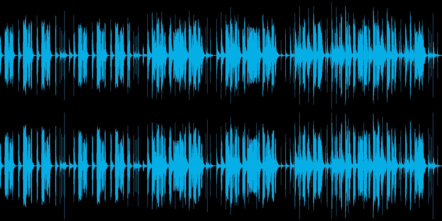 チューバ主体、のんびりコミカルなBGMの再生済みの波形