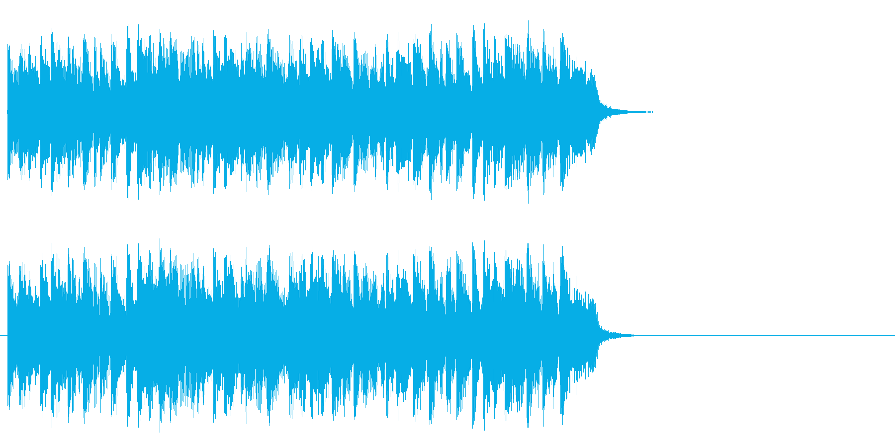 海を思う爽快フュージョン(サビ)の再生済みの波形