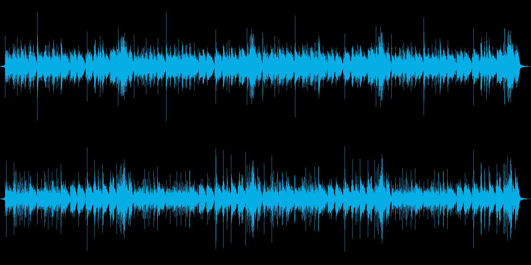 アコースティックギター&ストリングスの再生済みの波形