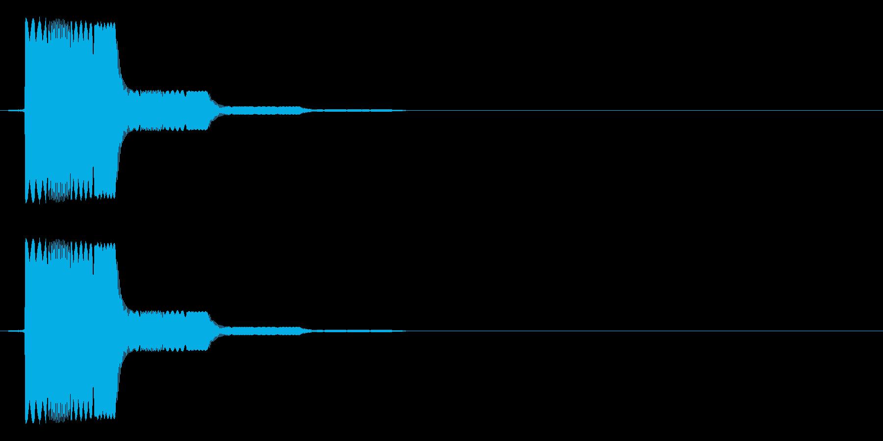 ピロ(ゲームの決定音などに)の再生済みの波形