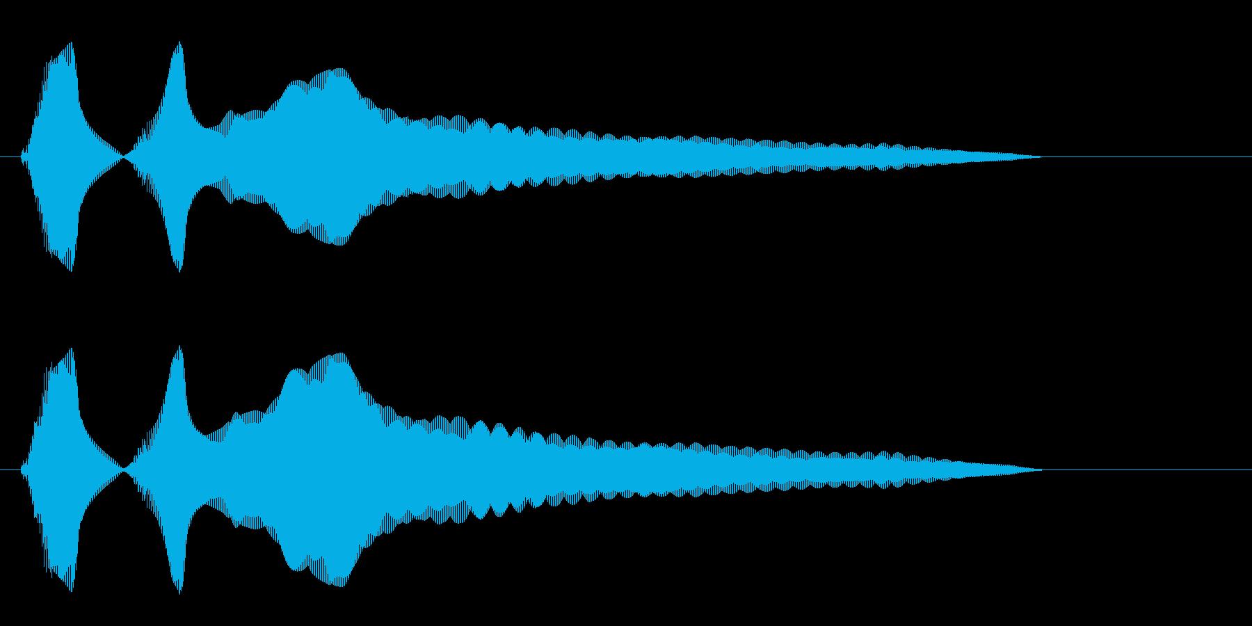キラーン(金属音系)の再生済みの波形