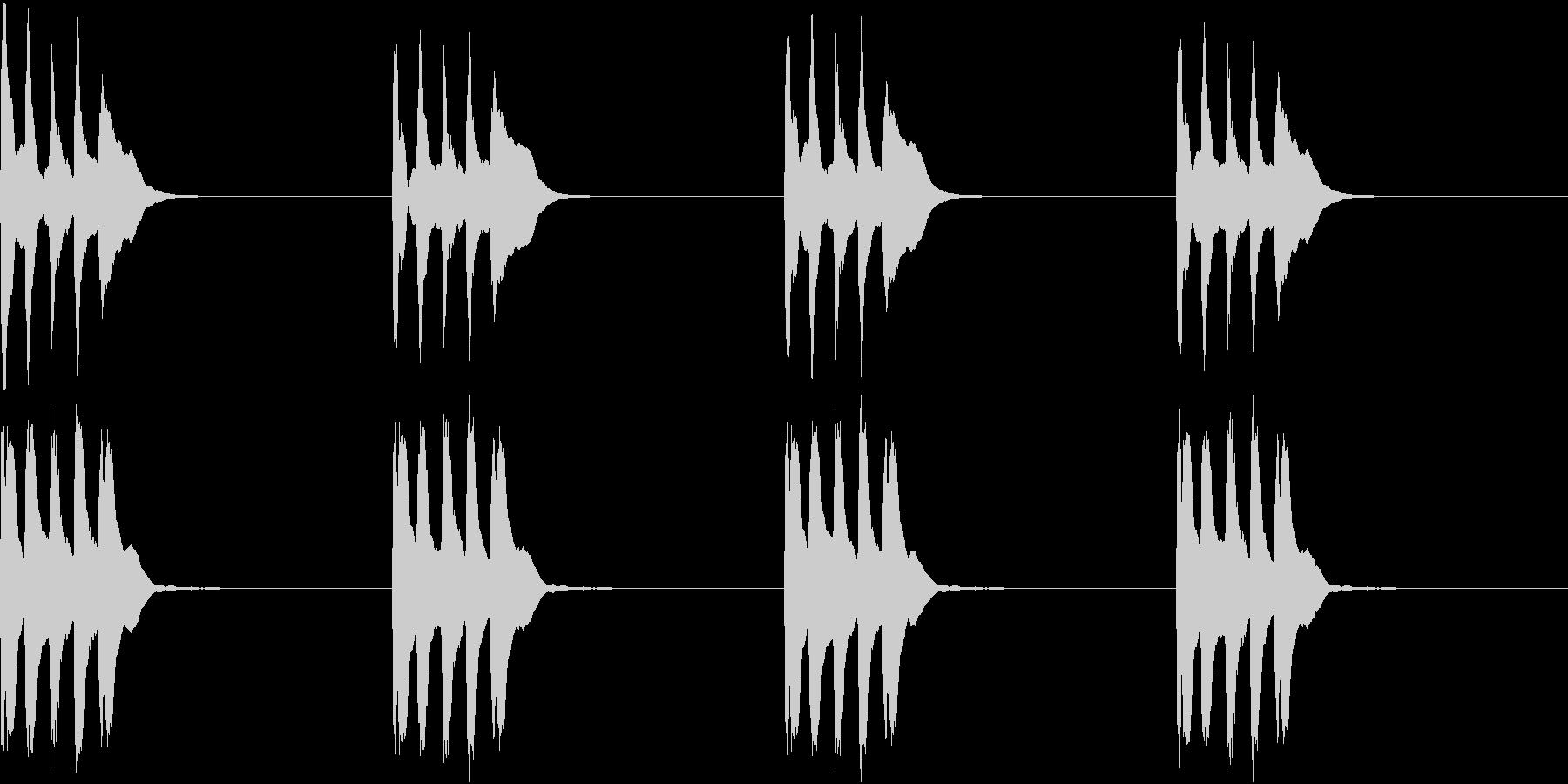 シンプル ベル 着信音 チャイム C13の未再生の波形