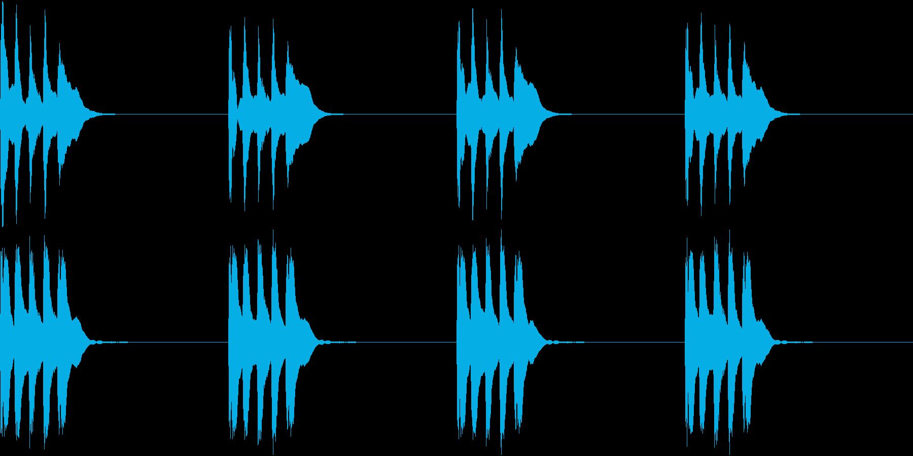 シンプル ベル 着信音 チャイム C13の再生済みの波形