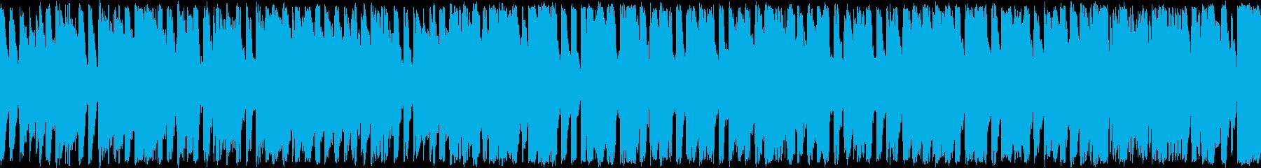 ほのぼのした雰囲気のポップス ループ曲の再生済みの波形
