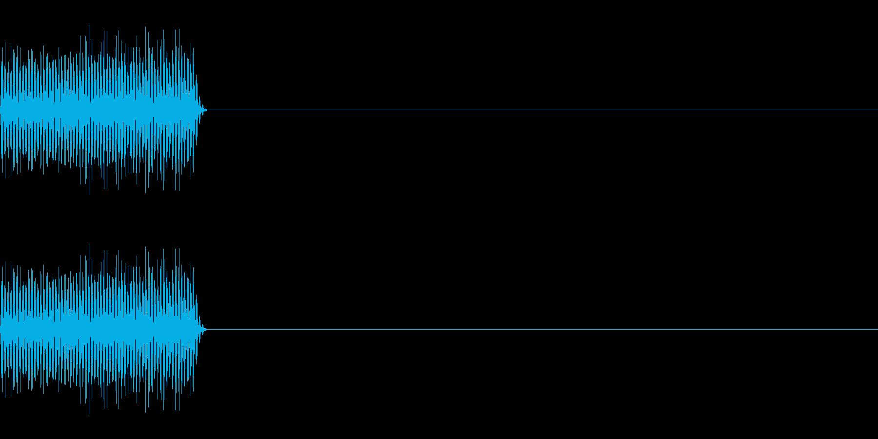 ピロッ_PC、電子的なキー音_01の再生済みの波形