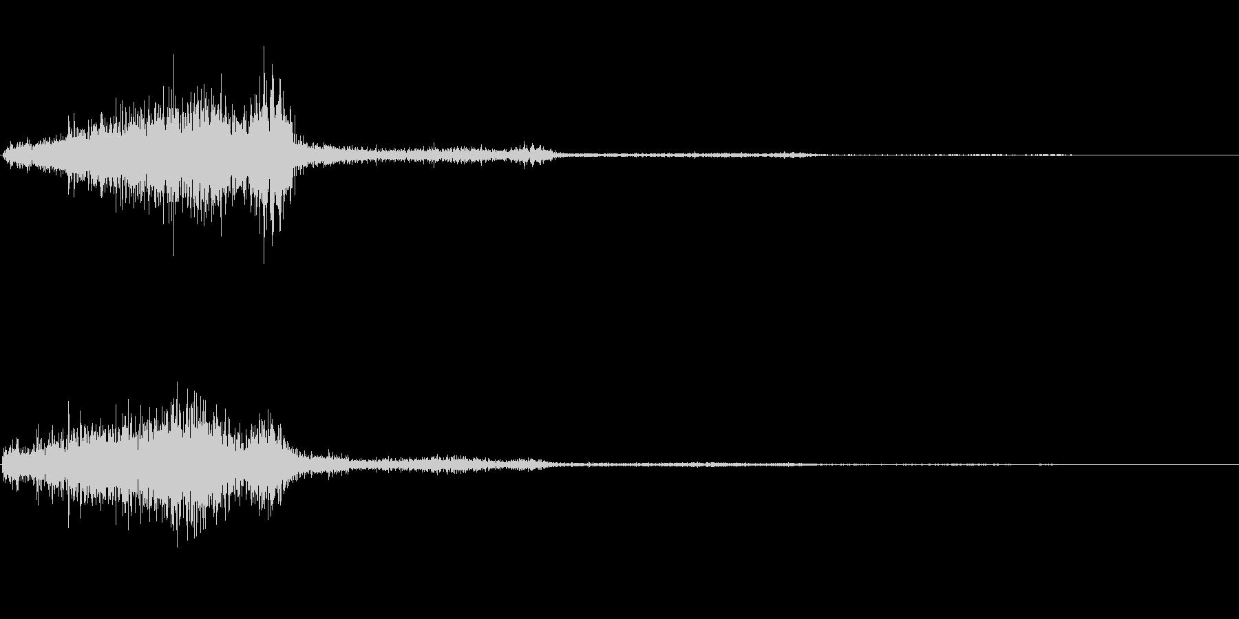 シュッ(スクロール音)の未再生の波形