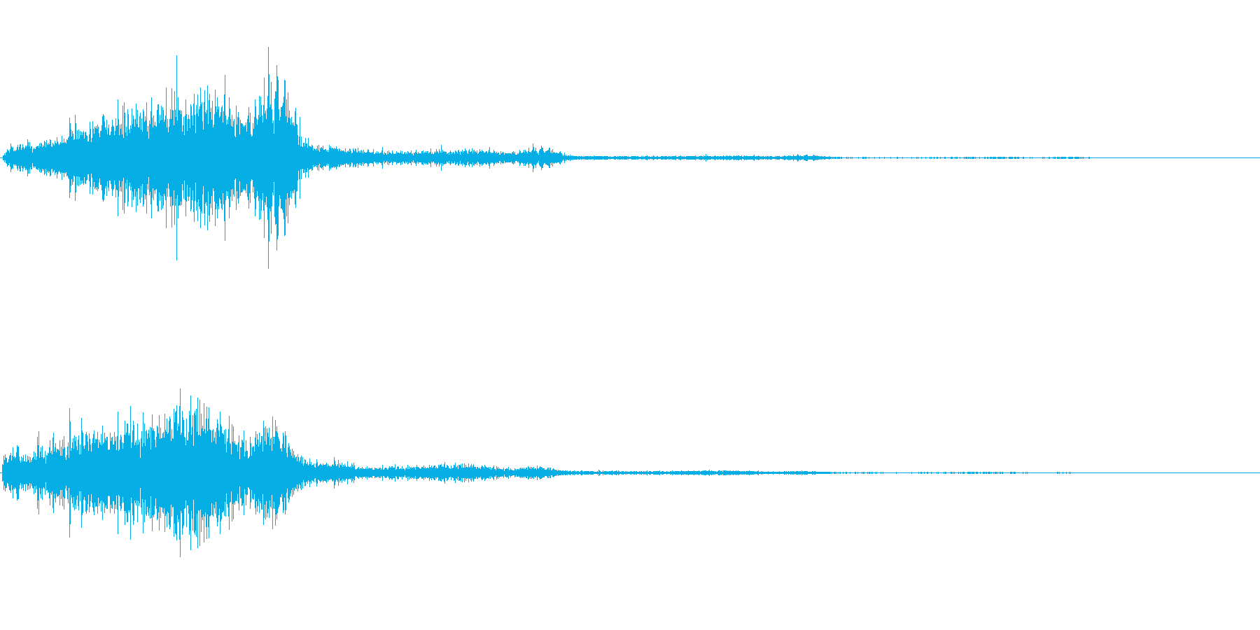シュッ(スクロール音)の再生済みの波形