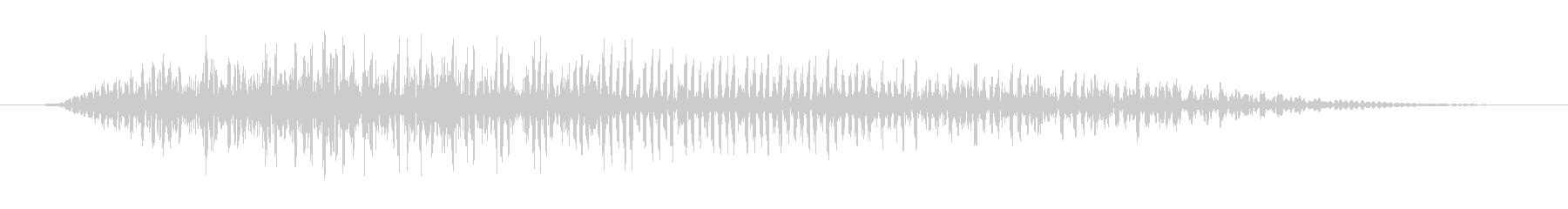 【ゾンビボイス】うなり声6の未再生の波形