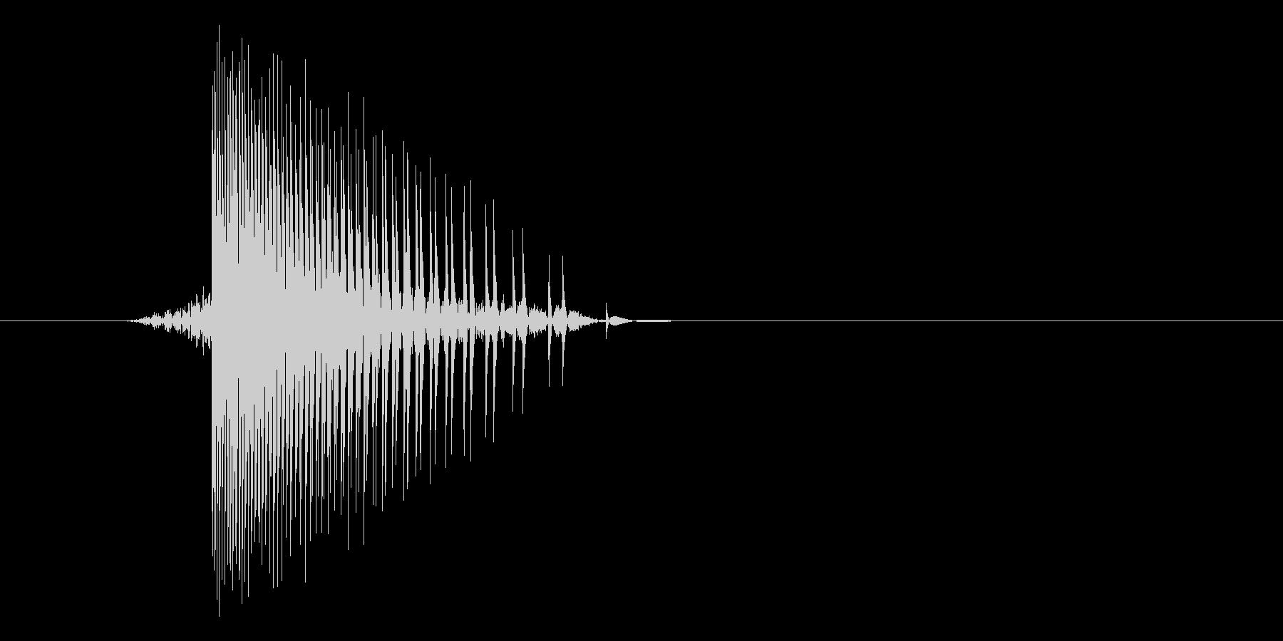 ゲーム(ファミコン風)ヒット音_030の未再生の波形