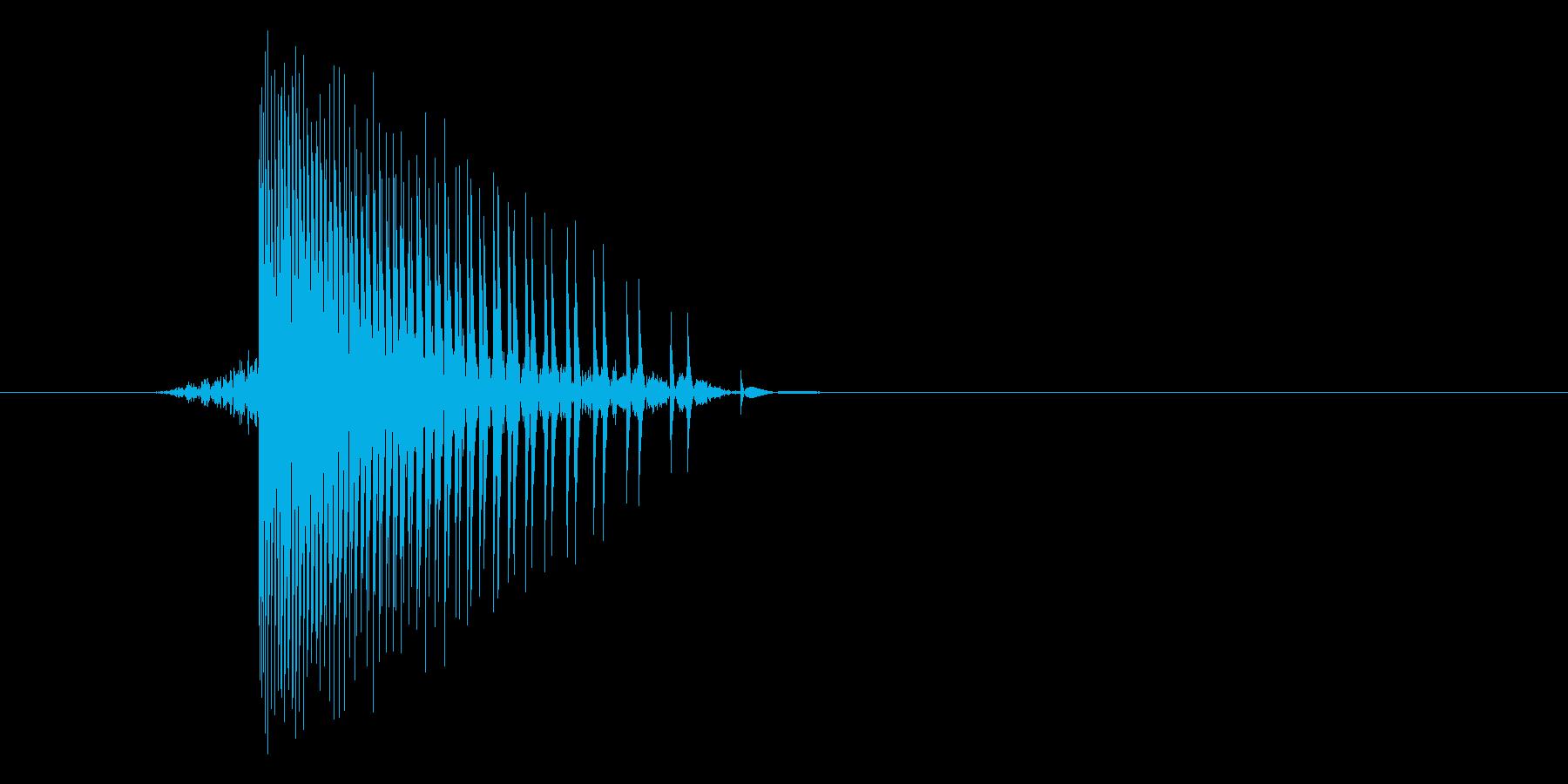 ゲーム(ファミコン風)ヒット音_030の再生済みの波形