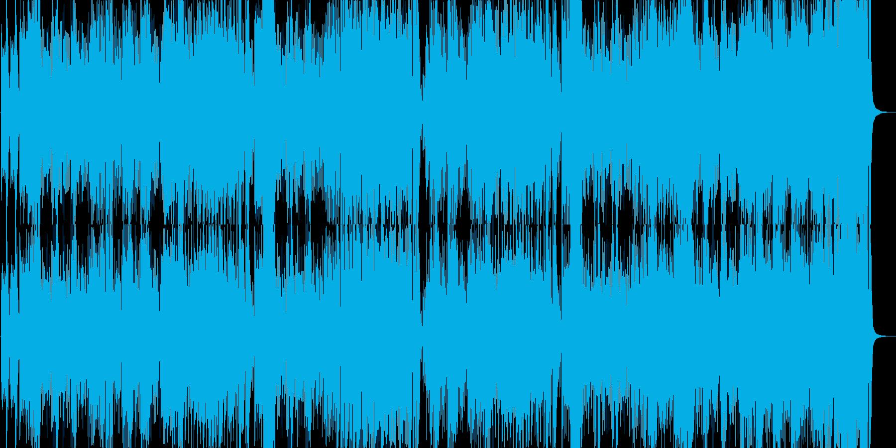 明るく元気なマーチの再生済みの波形