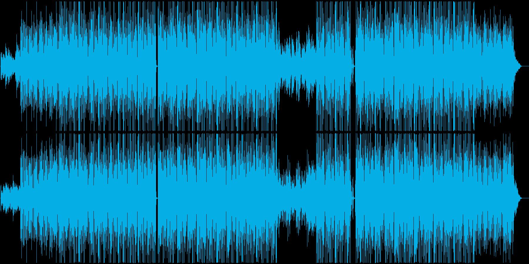 カラフルな映像に合う明るいポップなハウスの再生済みの波形