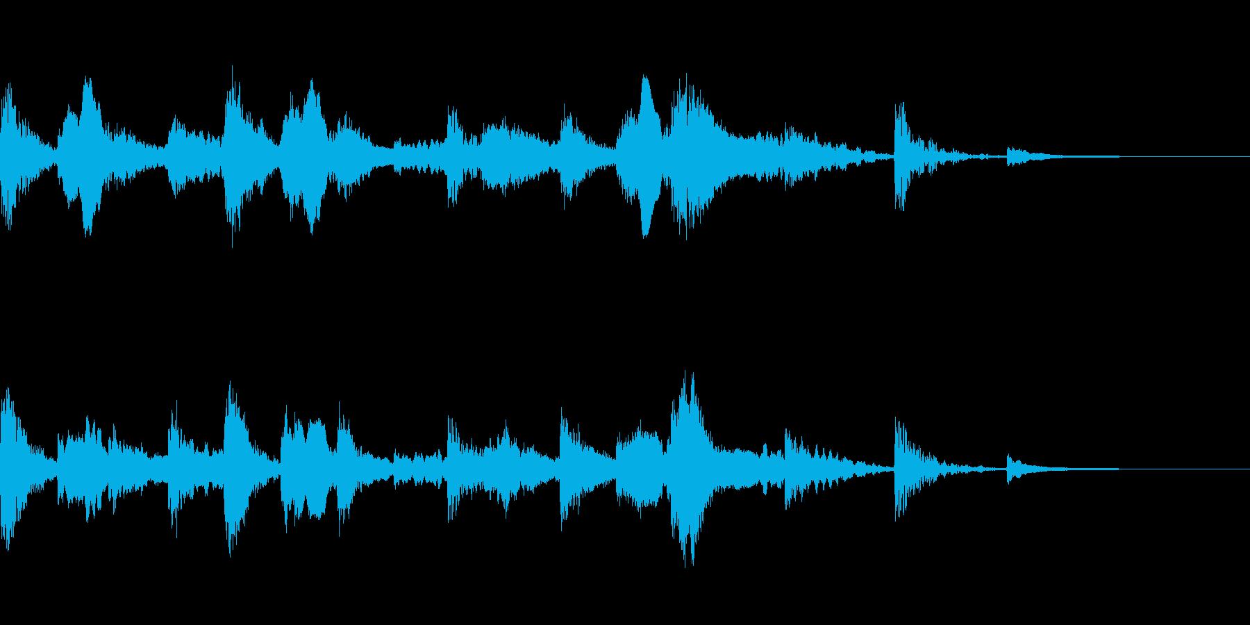 エスニックなアイキャッチの再生済みの波形